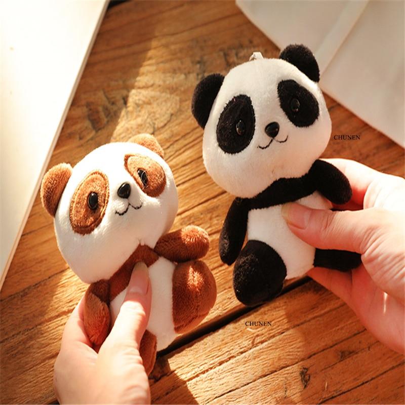4Colors, Panda 12CM Approx. Plush Stuffed Doll Toy Stuffed Animals & Plush cb5feb1b7314637725a2e7: Black Blue Brown Design Purple White