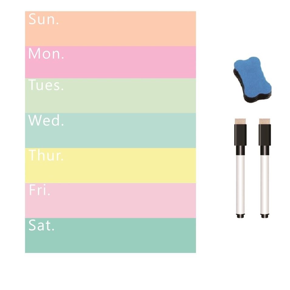 A4 Magnetic Whiteboard For Fridge Magnet Weekly Planner To Do List Notepad Dry-erase White Board Message Board Schedule Sheet