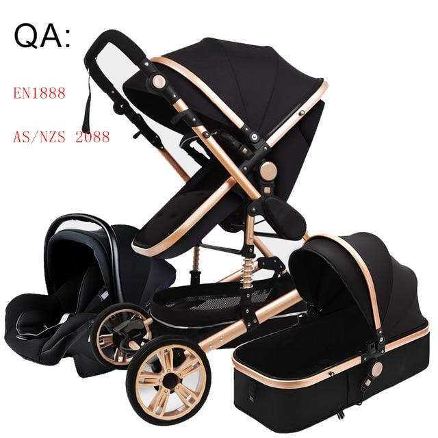 Luxo carrinho de bebê alta landview 3 em 1 carrinho de bebê portátil carrinho de bebê carrinho de bebê carrinho de bebê conforto do bebê para recém-nascido 1