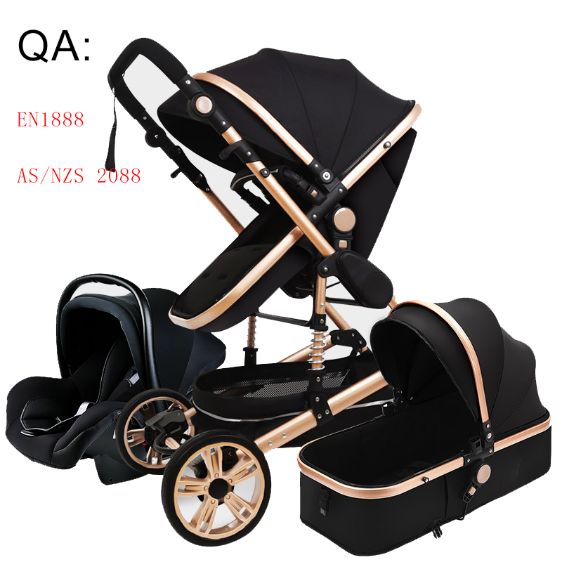 Luxus Baby Kinderwagen Hohe Landview 3 in 1 Kinderwagen Tragbare Baby Kinderwagen Baby Kinderwagen Baby Komfort für Neugeborenen