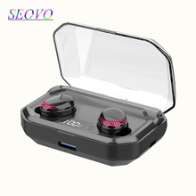 Seovo 3000mAh Power bank LED digital display 6D surround stereo charger for phone bluetooth waterproof airdots pro touch earbuds