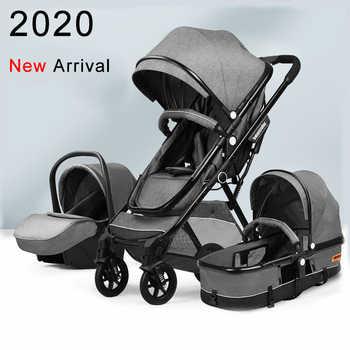 Leve alta paisagem carrinho de bebê 3 em 1 portátil carrinho de bebê para recém-nascido berço do bebê berço frete grátis