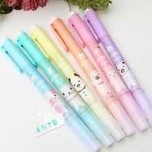 Stationery Highlighter-Pen Fluorescent-Pen School-Supplies Office Double-Headed Cute