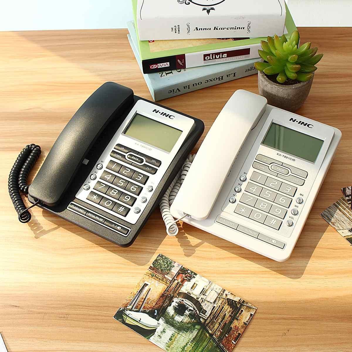 Fixed Phone Desk Phone Telephone LCD Screen Desktop Antenna Interface Incoming Call Display