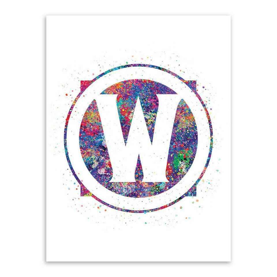 Акварель WOW альянс и Орда стены плакаты с живописью и художественная печать на холсте игры картинки для Гостиная садовый декор