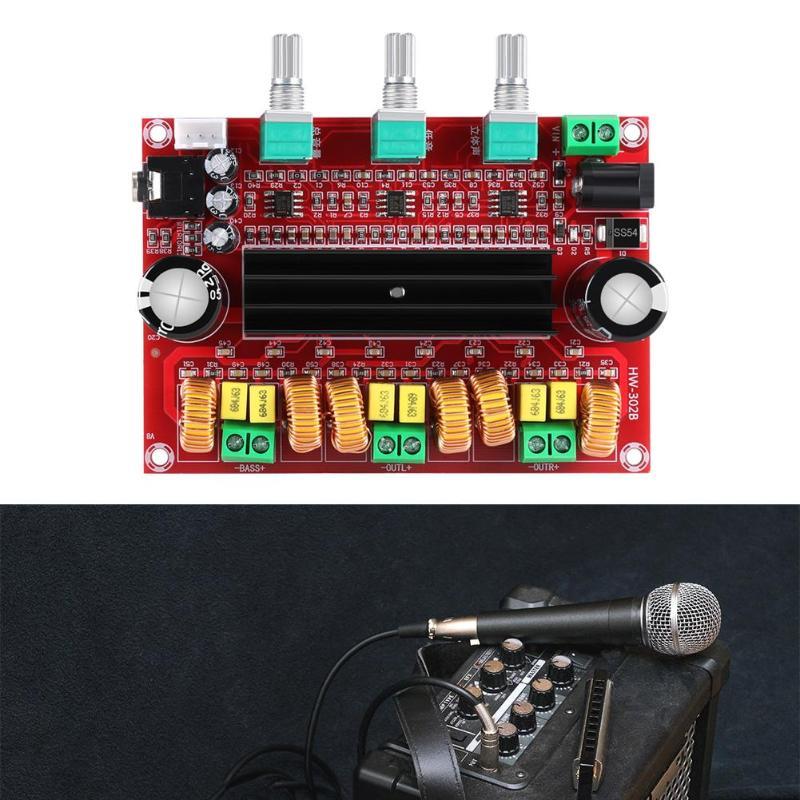 TPA3116D2 2,1 цифровой аудио усилитель доска DC 24 В 80Wx2 тяжелый бас + 100 Вт сабвуфер усилитель модуль для 4-8 Ом динамик