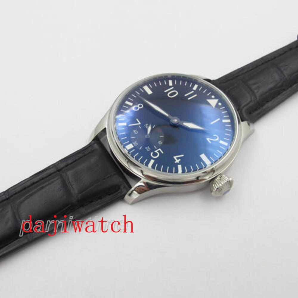 44mm Parnis 6498 Hand Winding Men Watch 12-hour Dial Stainless Steel Case Casual 17 Jewelry, Asia Unitas 6498 Manual Winding Mac