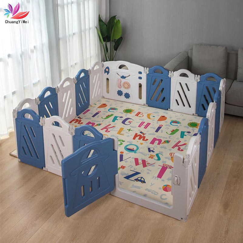 Baby Playpen For Children Pool Ball For Newborn Baby Fence Playpen For Folding Children Playpen Indoor Kids Safety Barrier M129