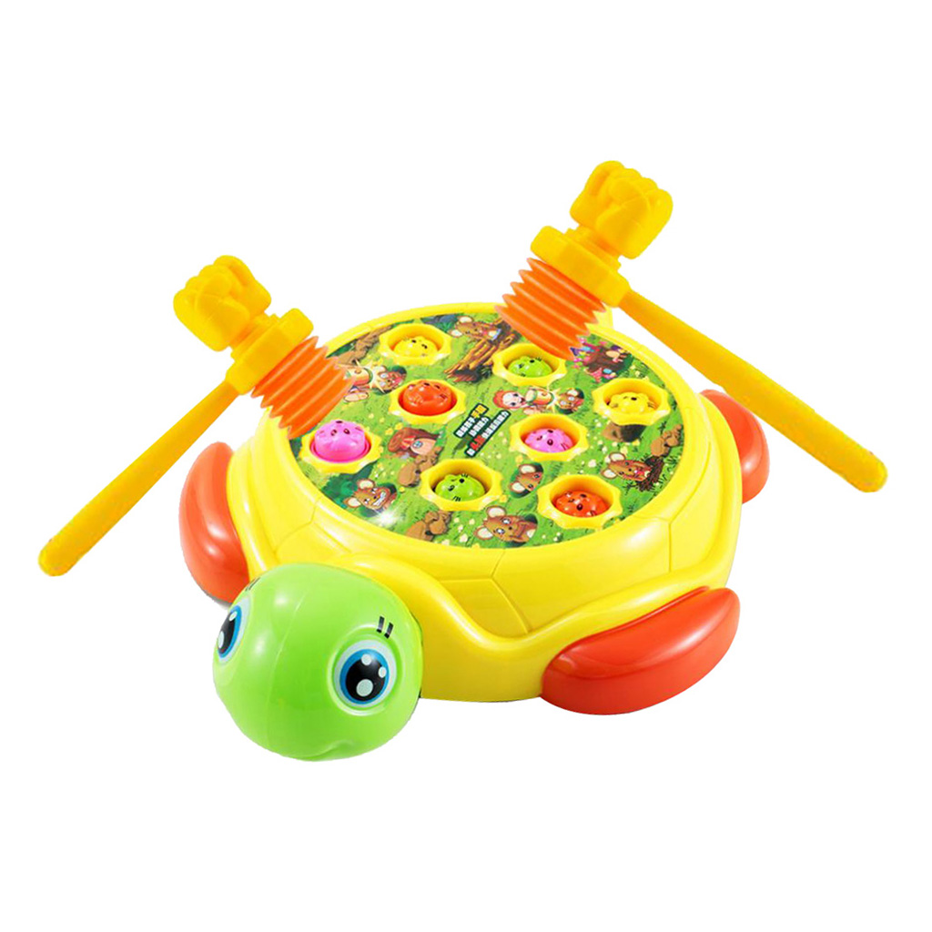 Kids Electronic Tortoise Game Handheld Game Machine Hits Hamster Toys