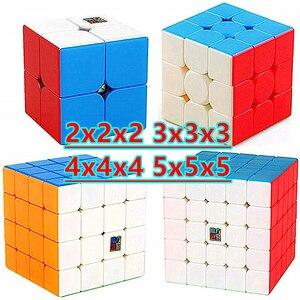 Moyu Meilong 3x3x3 Magic cube Strickerless 4x4x4 Cubo magico 5x5x5 Speed cube 2x2x2 Puzzle Cubes Skew cube Mastermorphix