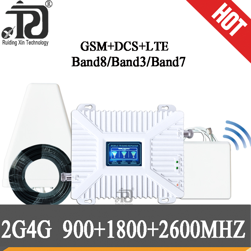 4g Signal Repeater 900/1800/2600mhz DCS LTE GSM 2G 3G 4G Mobile Signal Booster 1800 2600MHZ Repeater 900 GSM Cellular Amplifier