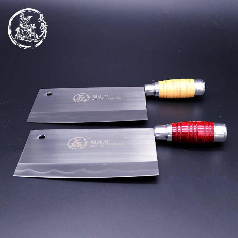 Shuoji faca de chef de cozinha de alta qualidade, faca chinesa artesanal de corte afiada de carne peixe vegetais antiderrapante alça com alça
