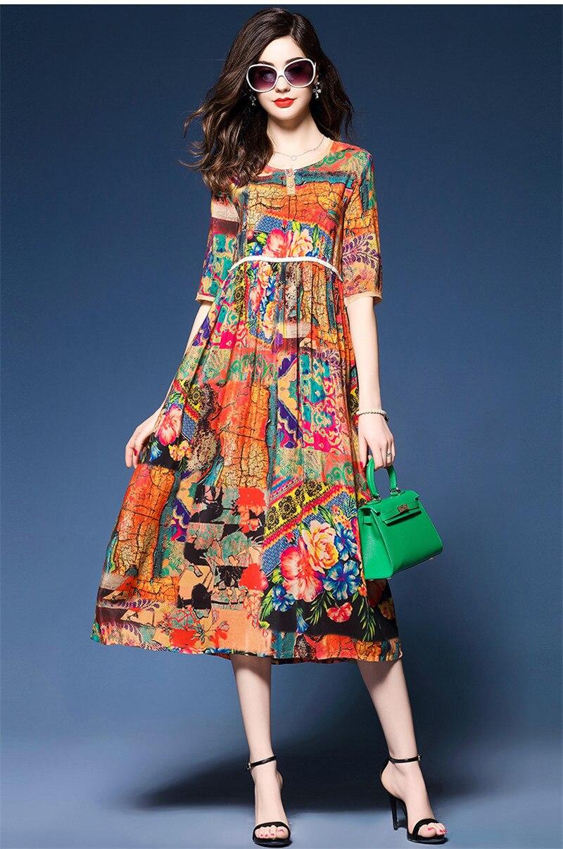 Silk Dress Women Ethnic