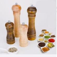 Мельницы для соли и перца мельница из твердой древесины с сильной