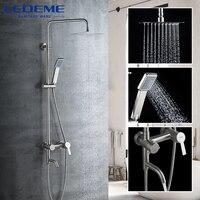 Nuevo https://ae01.alicdn.com/kf/H39de2b0f6afc40749beb8a52e58944b5E/Grifo de ducha LEDEME mezcladores de cabina de ducha de baño de lluvia grifo giratorio de.jpg