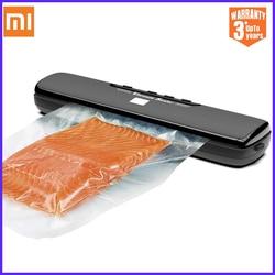 Автоматический пищевой вакуумный упаковщик Xiaomi Mijia, бытовой электрический упаковочный аппарат, в комплекте 15 пакетов