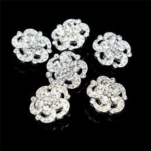 6 шт. Серебрянные Позолоченные Стразы с кристаллами и пуговицами для шитья