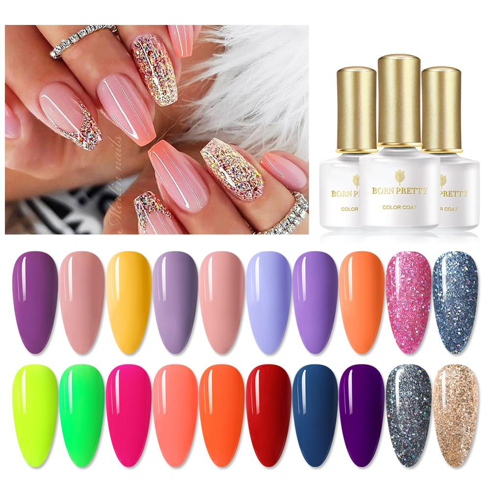 BORN PRETTY 20Pcs/Set Gel Nail Polish UV LED Gel Polish Set Semi Permanent Varnish Matte Top Coat Soak Off Nail Art Sequins Gel
