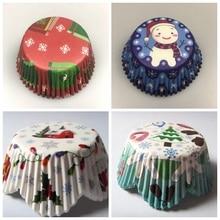 50x חג המולד Cupcake ספינות רפאים מכשפה גולגולת דלעת עכביש ליל כל הקדושים מאפין אפיית כוס עוגת עובש מגש עטיפת בעל כלי