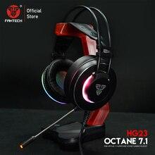 Słuchawki FANTECH HG23 słuchawki z mikrofonem wtyczka USB gamingowy zestaw słuchawkowy i Ac3001 stojak na słuchawki dla najlepszego odtwarzacza gier PUBG LOL FPS