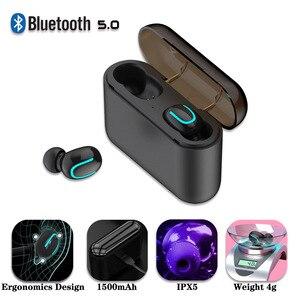 Image 2 - Draadloze mini Bluetooth 5.0 Oortelefoon voor Oneplus5 5T 6 6T 7 7pro mobiele telefoon Met 1500mAh Power bank