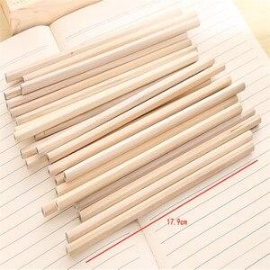 Image 5 - 100 pçs/lote circular triângulo redondo hexágono lápis de madeira natural hb lápis em branco não tóxico lápis escola escritório preto