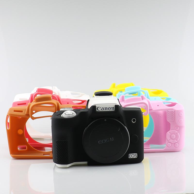 Adaptable Selens Camera Soft Silicone Case Body Protective Cover For Canon M50 Mirrorless System Camera Rubber Skin Case