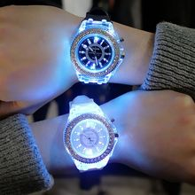 Girl Watch 7 Colors LED Light Colorful Electronic Digital Wr
