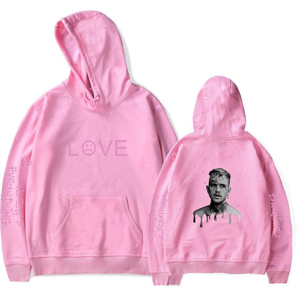 Pink Lil peep casual hoodie ladies men's popular sweatshirt autumn and winter boys and girls New Harajuku jumper warm jacket
