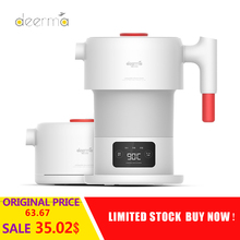 New Deerma DH206 0.6L Foldable Electric Kettle Portable Handheld Electric Water Kettle Auto Power Off Protection Kettle