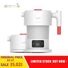 Yeni Deerma DH206 0.6L katlanabilir elektrikli su ısıtıcısı taşınabilir el elektrikli su ısıtıcısı otomatik kapanma koruma su isıtıcısı