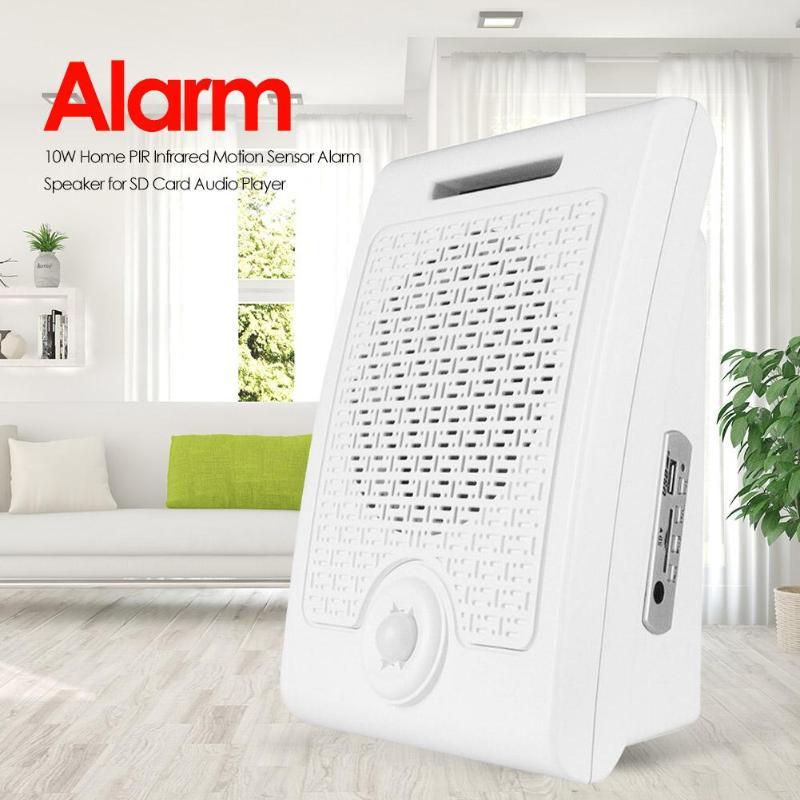 10W Burglar Alarm PIR Infrared Human Motion Sensor Detection Speaker Turn Off Memory Function Security For SD Card Audio Player