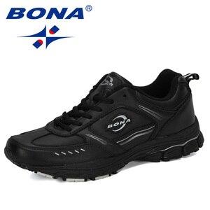 Image 2 - BONA 2019New Designer Running Shoes Men Sports Cow Split Sneakers Male Athletic Footwear Zapatillas Walking Jogging Shoes Trendy
