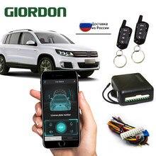 Système universel d'alarme de voiture télécommande système de verrouillage Central de voiture sans clé avec bouton de dégagement de coffre pour Peugeot 307 Toyota VW