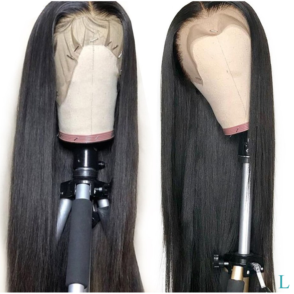 Malaysian Straight Lace Front Human Hair Wigs Pre Plucked With Baby Hair Mayfair Remy Human Hair Wig 150% 13x4 Lace Frontal Wigs