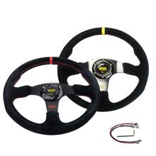 Umiversal Car Racing Steering Wheel 14 Inch/350MM Suede General For OMP