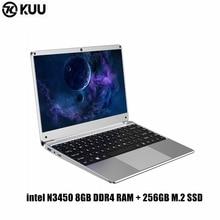 KUU 14.1 inch For Intel N3450 8GB DDR4 RAM 256GB SSD Notebook IPS Laptop Full Layout Keyboard additional Sata 2.5 port