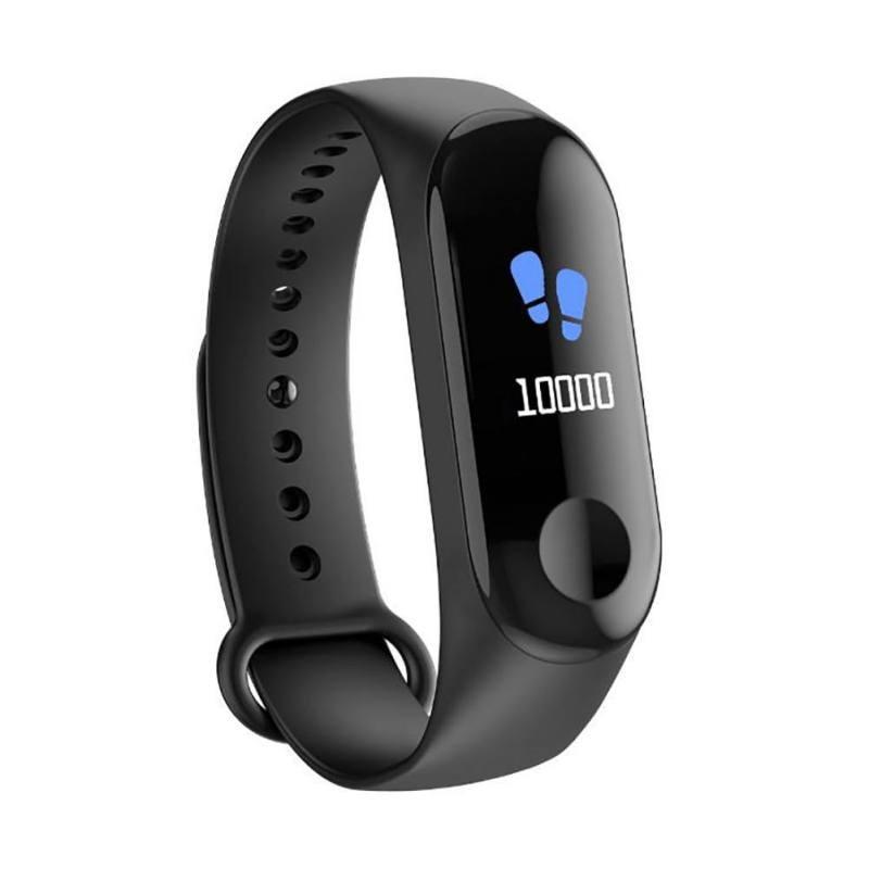 Waterproof Fitness Tracker Pedometer Heart Rate Monitor Smart Watch Bracelet Band 0.96 Inch HD Color Screen