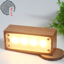 Solid wood LED intelligent night light creative gifts new and peculiar electronic