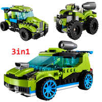 241pcs The 3-in-1 Rocket Rally Car Model Boy girl friends Building Block Educational DIY Toy For Children Christmas Gift