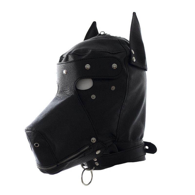 Dog slave Mask Sex PU Leather Couple Flirting Femdom BDSM Bondage Adults Sm Games sex toys for women nightclub