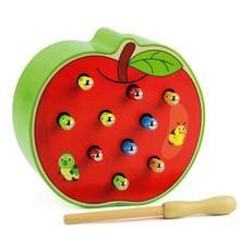 Магнитная игра Гусеницы и яблока/клубники ловля червя/рыбалки