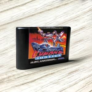 Image 1 - Cyborg adalet EUR etiket Flashkit MD akımsız altın PCB kartı forSega Genesis Megadrive Video oyunu konsolu