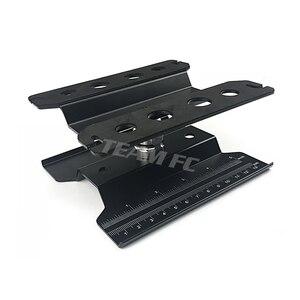 Image 2 - 360 שחור קצר עבודת Stand תיקון תחנת הרכבה פלטפורמת מעלית או נמוך יותר עבור 1/8 1/10 Scale RC דגם רכב TRX4 צירי S26