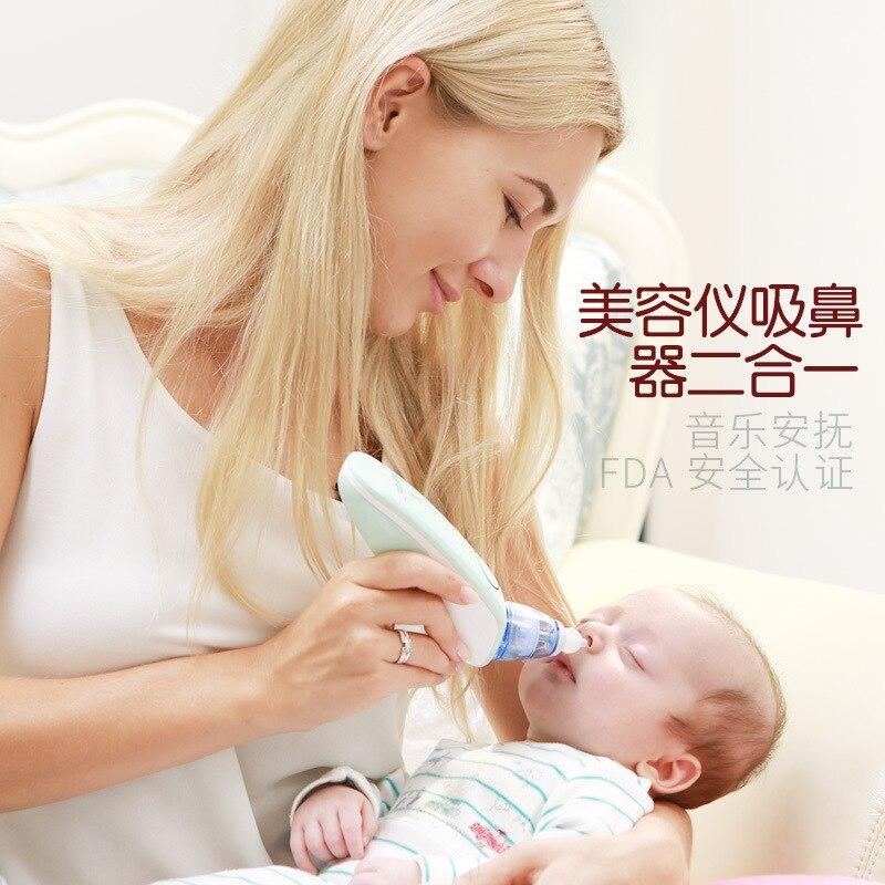 2в1 Детский носовой аспиратор для удаления угрей Младенцы нети горшок перезаряжаемый Bebe Электрический Очиститель носа уход за ребенком детские товары