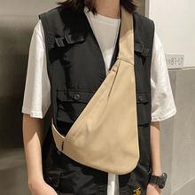 Однотонные нейлоновые нагрудные сумки унисекс 2020 уличная мода