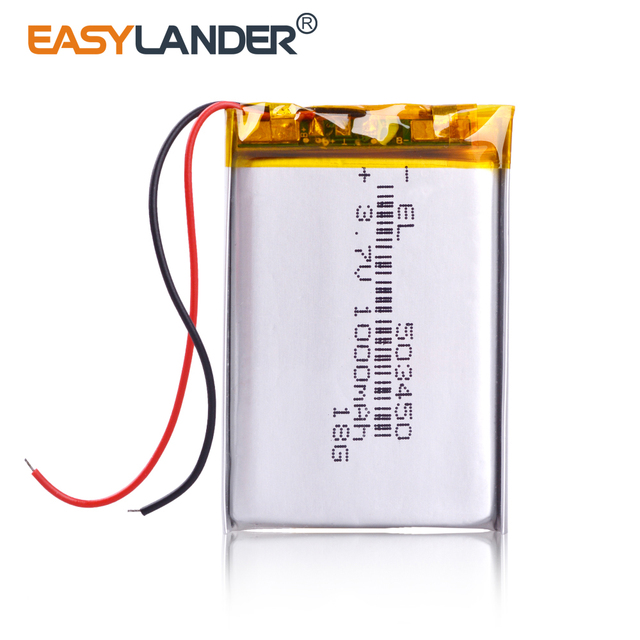 503450 3.7V 1000mAh Lithium Polymer LiPo Rechargeable Battery li ion cells For Mp4 GPS DVD PAD mirror of the dvr camera recorder