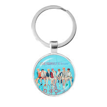 kpop bangtan Poster Clear Image Keychain Glass Cabochon New Album Love Yourself Answer Jewelry K-pop Boys Keyrings For Fans Gift(China)