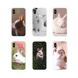 Для Xiaomi Mi4 Mi5 Mi5S Mi6 Mi A1 A2 A3 5X 6X 8 CC 9 T Lite SE Pro аксессуары чехлы для телефонов милые белые детские кролики