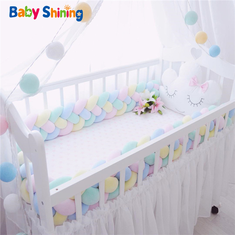 Baby Shining Baby Bed Bumper Crib Bumpers 1m/2m/3m Newborn Bed Bumper Handmade Baby Playpens On Baby Bed Long Bumpers For Infant